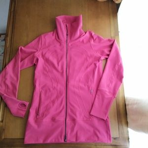 Lululemon pink in stride jacket size 12